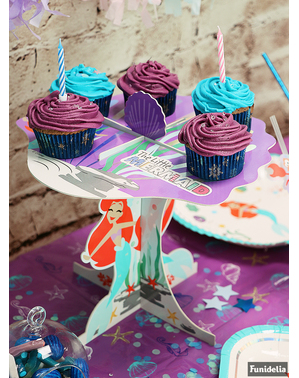 Platou decorativ pentru cupcake Mica Sirenă - Ariel Under the Sea