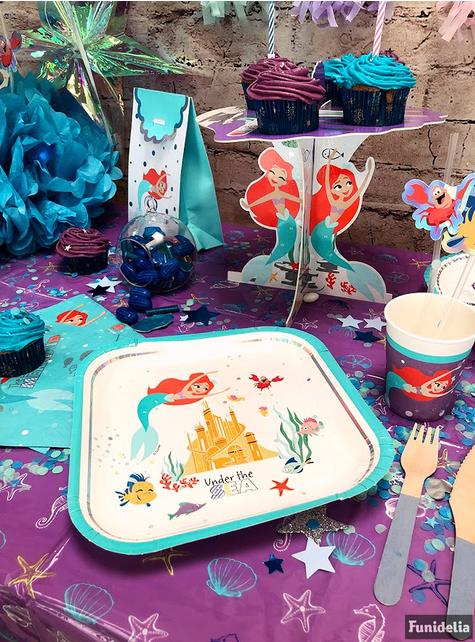 Base decorativa para cupcake  de La Sirenita - Ariel Under the Sea
