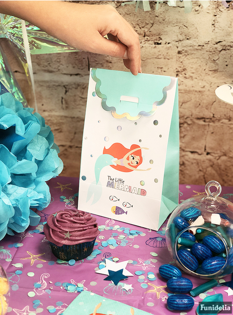 4 The Little Mermaid Party Bags - Ariel Under the Sea