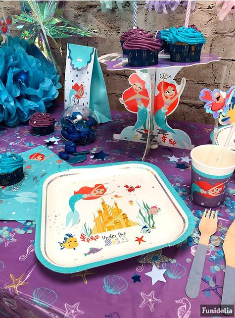 Set med 4 godispåsar med lilla Sjöjungfrun - Ariel Under the Sea