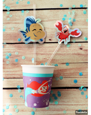 6 The Little Mermaid Straws- Ariel Under the Sea