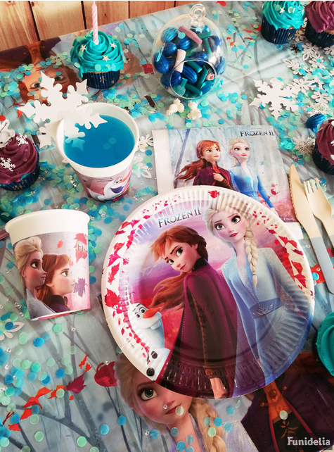 8 vasos Frozen 2 de papel (20 cl)