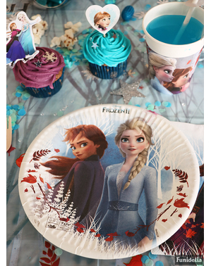 8 platos Frozen 2 de papel compostable (23 cm)