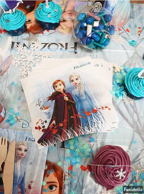 20 servilletas Frozen 2 de papel compostable (33 cm)