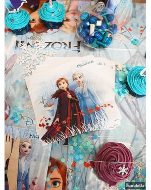 20 serviettes en papier La Reine des Neiges 2 biodégradable (33 cm)