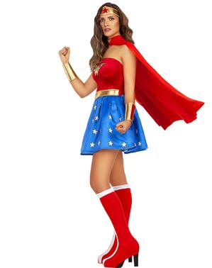 Sexig Wonder Woman Maskeraddräkt