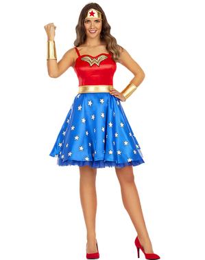 Klassisk Wonder Woman plus size kostyme