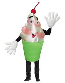 Disfraz de yogur apetitoso para adulto