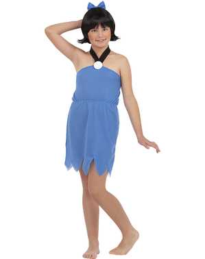 Fato de Betty Rubble para menina - Os Flintstones