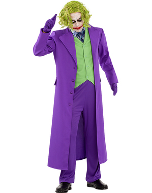 Joker plus size kostyme Ekstra - The Dark Knight