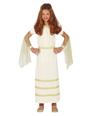 Grekisk Gud Maskeraddräkt för flicka