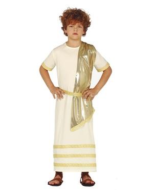 Disfraz de Dios griego para niño