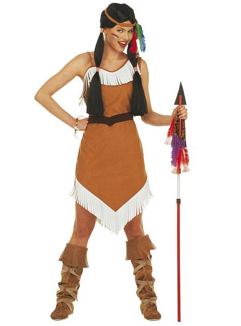 Infødt Indianer Spyd med Fjær