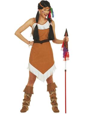 Indiaanse speer met veer