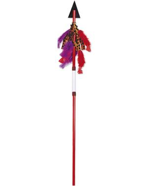 Lanza indio con pluma