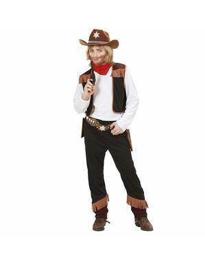 Fato de cowboy do Velho Oeste para menino