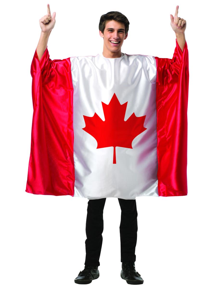 Costume da bandiera del Canada per uomo. Consegna express  fdd4203e3611