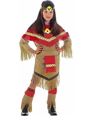 Indianische Prinzessin Kostüm für Mädchen
