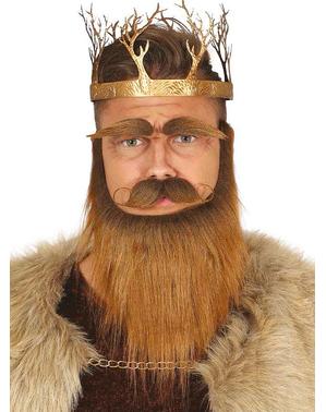 Coroa metálica de rei dos tronos dourada para adulto