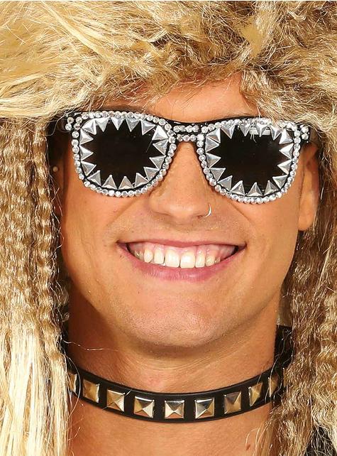 Gafas de rock con brillantes incrustados para adulto
