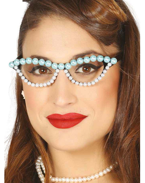Óculos de pérolas para mulher