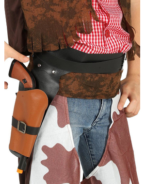 Black holster with cowboy gun