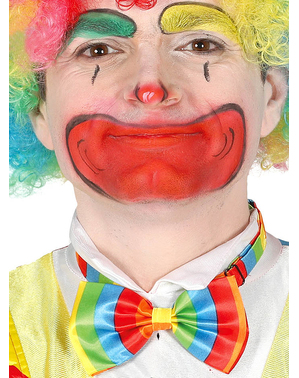 Fluga clown flerfärgad för vuxen