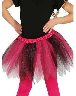 Pink and black glitter tutu for girls