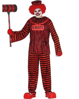Maskeraddräkt clown obotlig för vuxen