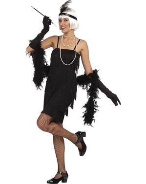 Costum anii 20 negru pentru femeie