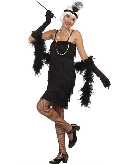Welp Zwart jaren 20 Charleston kostuum. De coolste | Funidelia QW-43