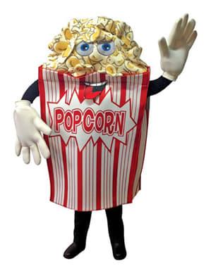 Kostuum zakje popcorn voor volwassenen