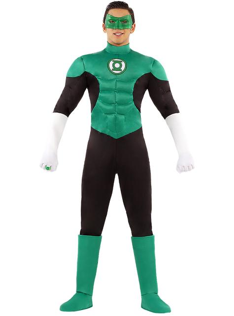 Green lantern costume for men