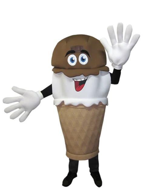 Fato de cone de gelado para adulto