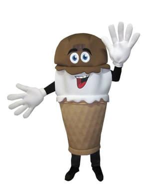 Disfraz de cucurucho de helado para adulto
