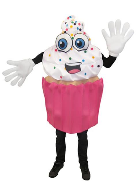 Fato de cupcake apetitoso para adulto