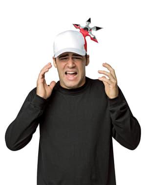 Gorra ninja con mala puntería para adulto