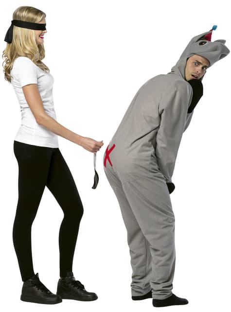 Disfraz de pon la cola al burro para pareja - hombre