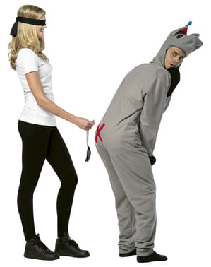 Couple's Pin the Tail on the Donkey Costume