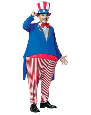 Costum Unchiul Sam gras pentru adult