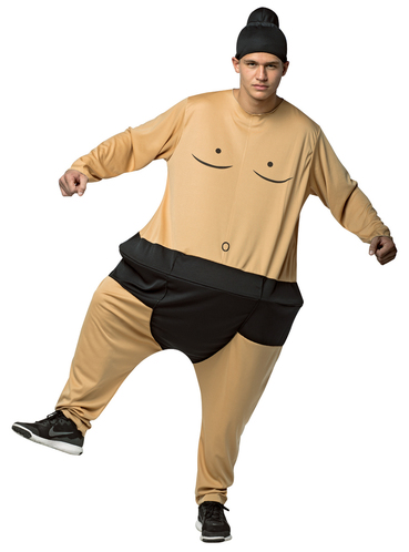 adult 39 s fat sumo wrestler costume. Black Bedroom Furniture Sets. Home Design Ideas