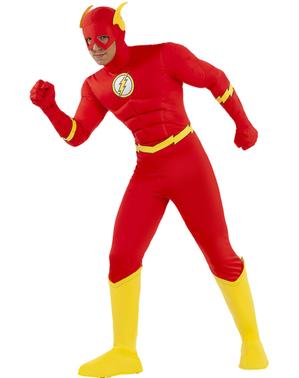 Flash plus size kostyme