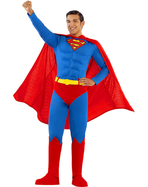 Supermann plus size kostyme