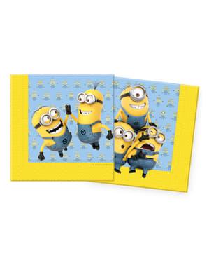 20 serviettes Minions