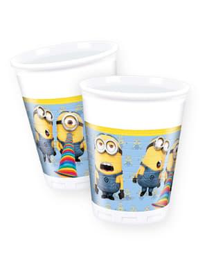 8 copos Minions