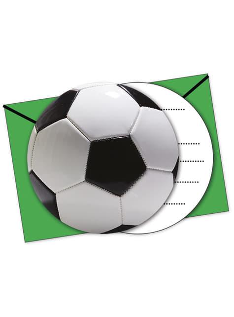 6 invitaciones Football Party