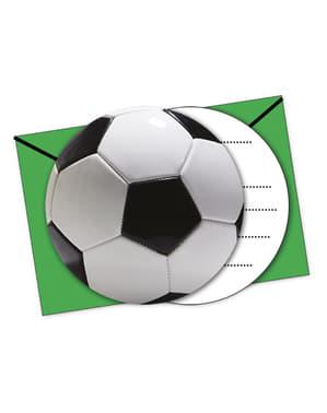 Zestaw 6 zaproszeń Football Party