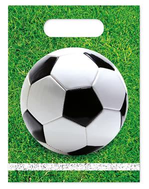 6 uitdeelzakjes Football Party