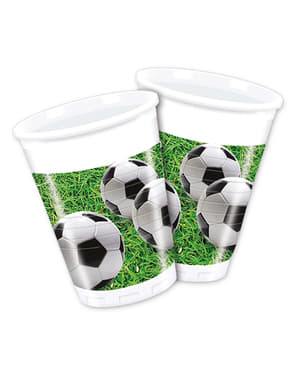 8 Football Party Cups