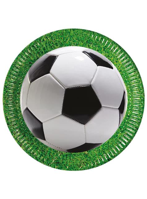 Set de 8 platos Football Party